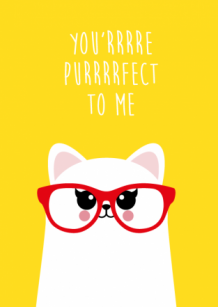 Ansichtkaart Poes you are purfect to me